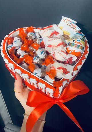 Kinder box serce słodki prezent dzień dziecka urodziny imieniny