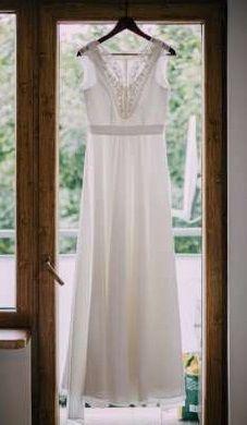 nowa suknia ślubna, w stylu boho