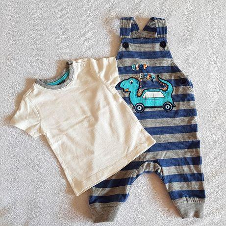 Paczka śliczne ubranka dla chłopca, wyprawka 56,62 stan idealny newbor