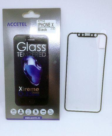 Película de vidro temperado completa para iPhone X