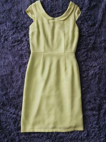 Sukienka RAVEL limonkowa, elegancka, wesele, lato,  S