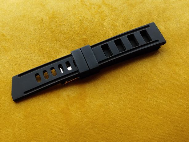 Pasek silikonowy 22mm drabinka silikon do zegarka divera diver czarny