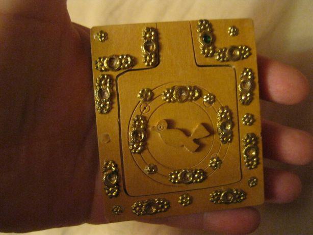 ручная работа карманное старое зеркало дерево купили в египте handmade