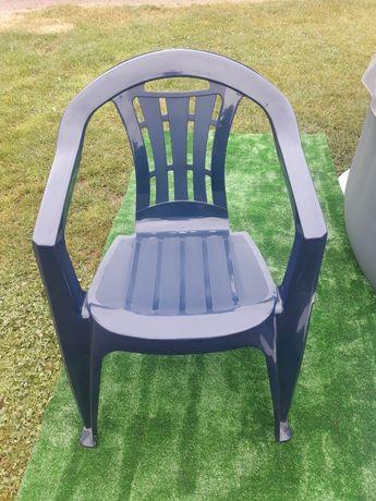 Krzesła ogrodowe plastikowe mocne  6szt.