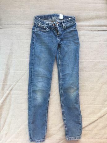 Spodnie dżinsy H&M jeansy dla dziewczynki 134