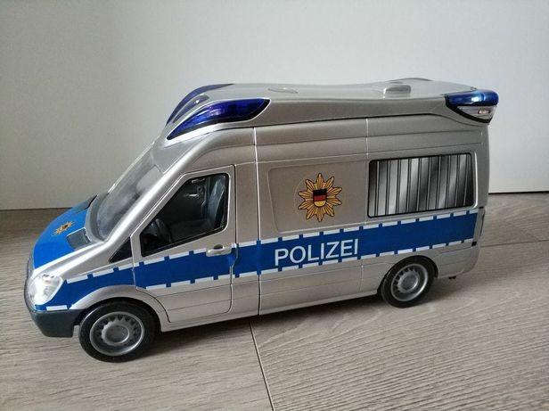 Samochód policyjny z dźwiękiem i światłem