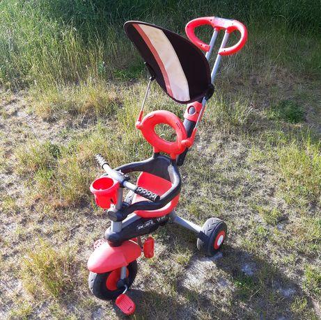 Rowerek dziecięcy 3 kołowy, pchacz, smart trike dx