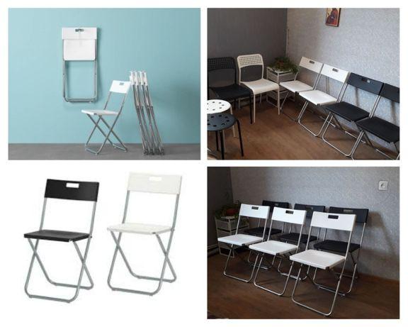 ХІТ !!! Вир-во в ЄС Нові складні стільці/ столи/ білі/чорні/ ІКЕА ikea