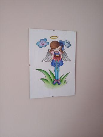 Aniołek - obraz, prezent, pamiątka