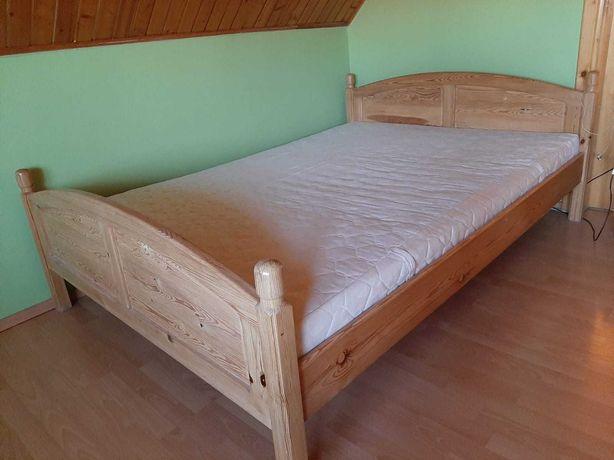 Łóżko drewniane małżeńskie