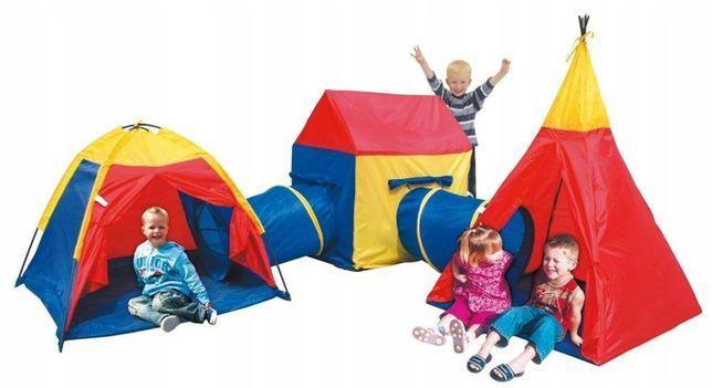 Детская палатка комплекс 5в1 домики + тоннель ігровий комплекс
