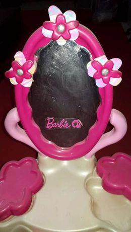 bancada com espelho de maquilhagem barbie+ banco