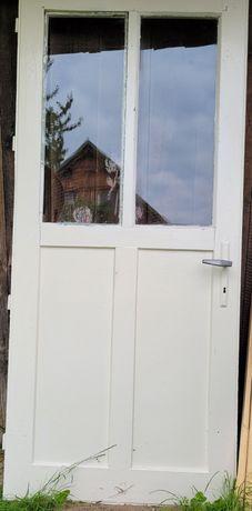 Drzwi Vintage PRL drewniane stare