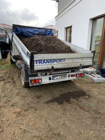 Piasek czarnoziem beton ziemia kruszywo zasyp frez płukany transport