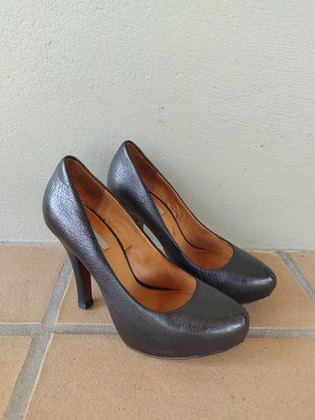 Sapatos Uterque originais - pele, preto