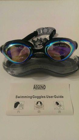 Очки зеркальные для плавания Aegend для взрослых и подростков