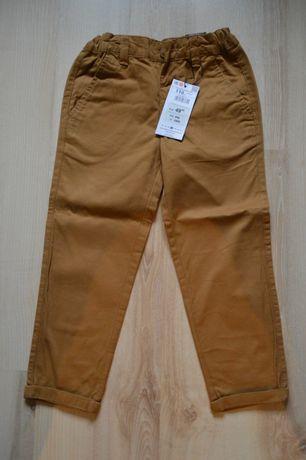musztardowe spodnie typu Chino, RESERVED, NOWE, rozmiar 110