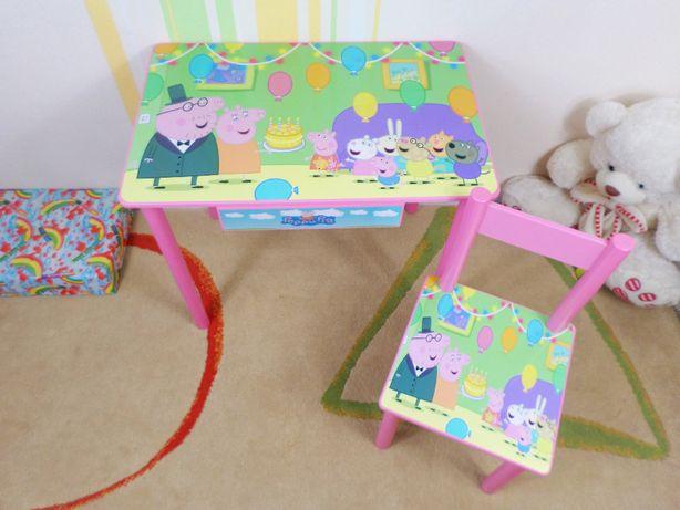 """Детский столик и стульчик """"Свинка Пеппа"""" стол-парта,стул,ящичек"""