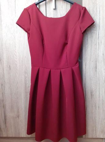 Bordowa sukienka, XS