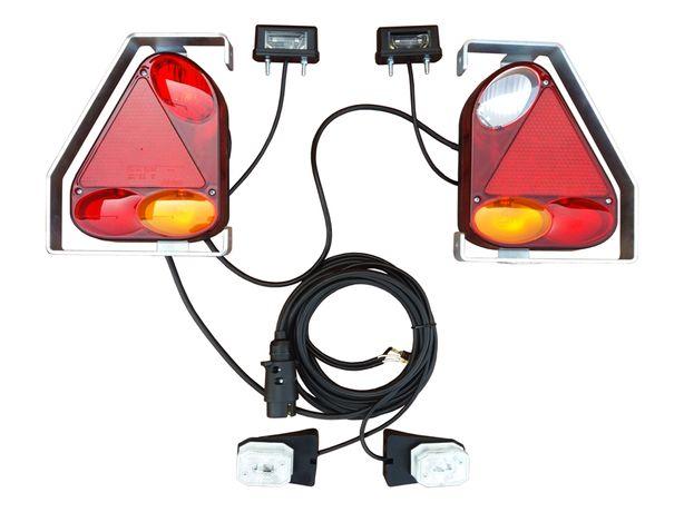 Instalacja oświetlenie przyczepki przyczepy lampy zestaw lamp