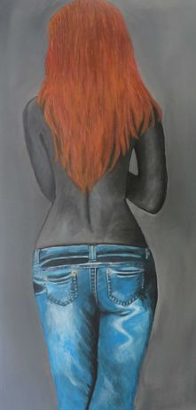 pintura acrílica original pintada à mão - tela - 40x70cm