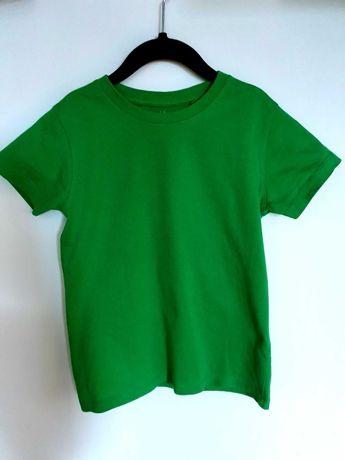 Koszulka zielona z krótkim rekawem rozm. 122 jak nowa