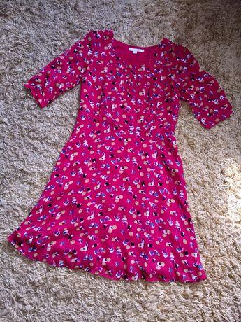 Винтажное шифоновое платье в горох