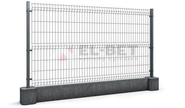 Panel 3D fi 4 x 123 cm grafit panele ogrodzeniowe wyprzedaż