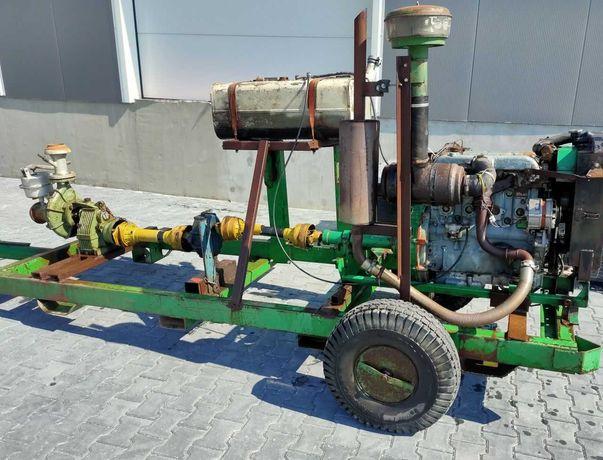 Motopompa pompa Caprari  4 cylindry Perkins Massey 66m³/h