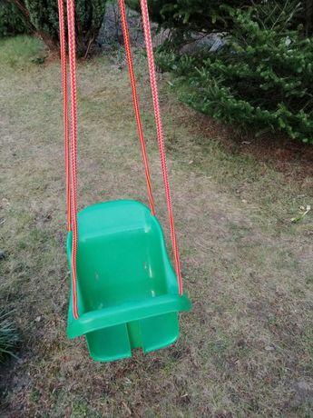 Huśtawka do ogrodu dla dzieci zielona liny do zamontowania