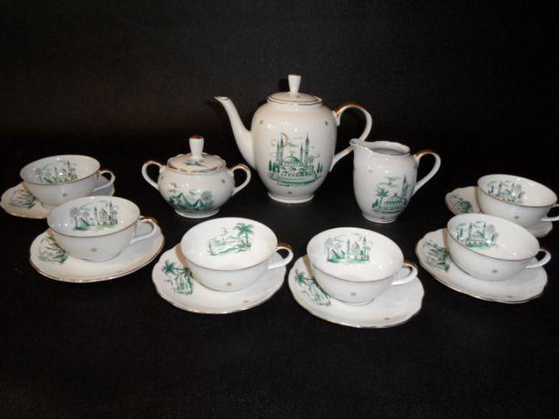 stara porcelana kobaltowa serwis kawowy herbaciany Veb Konitz