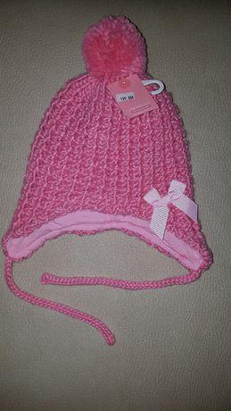 Красивая шапочка с ушками GeeJay, шапка Глория Джинс 50 размер 4-6 лет