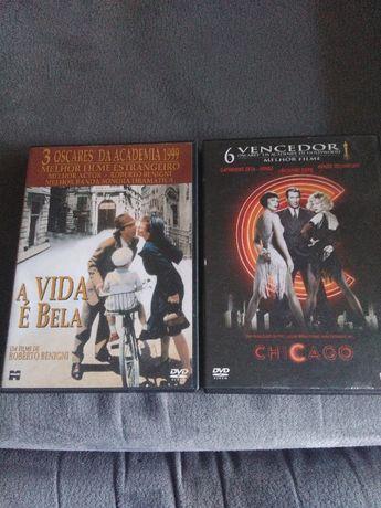 """Dvd """"A vida é bela"""" e Chicago"""