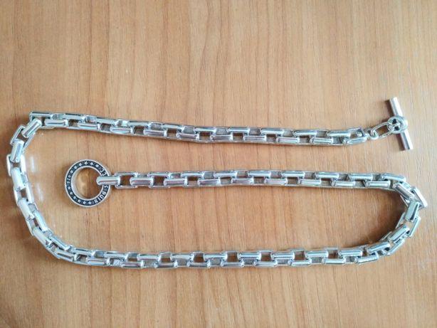 массивная мужская цепочка якорное плетение серебро 925 вес 190 гр