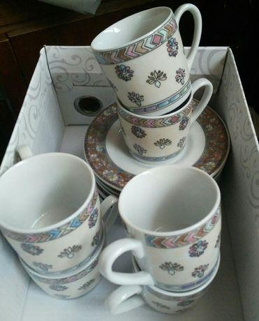 Кофейный набор кружки+блюдца 12 предметов