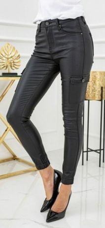 Woskowane spodnie bojówki