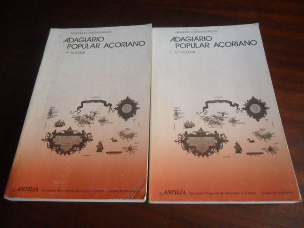 """""""Adagiário Popular Açoriano"""" de Armando Cortes-Rodrigues - 2 Volumes"""