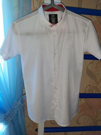 рубашка с коротким рукавом по размерам на 11 лет 146 рост.