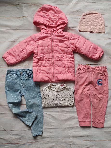 Одежда пакетом, 12-24 мес. Девочке. Куртка, джинсы, гольф, шапка