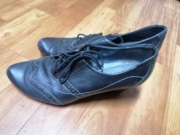 Туфли, ботильоны кожаные