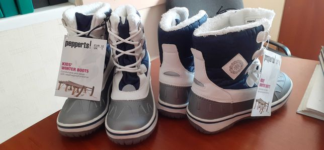 НОВЫЕ зимние термо  ботинки сапоги Pepperts Германия. не промокают