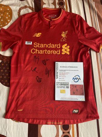 Koszulka Liverpool FC Salah Mane Firmino i inni oryginalne autografy