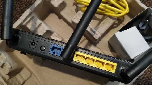 Router wan/lan wifi 3 anteny- bardzo dobry sygnał nowy soft