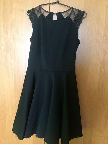 sukienka studniówkowa/ weselna czarna koronka elegancka