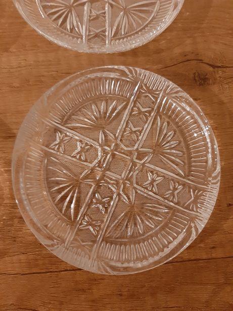 Talerzyki kryształowe 6szt komplet