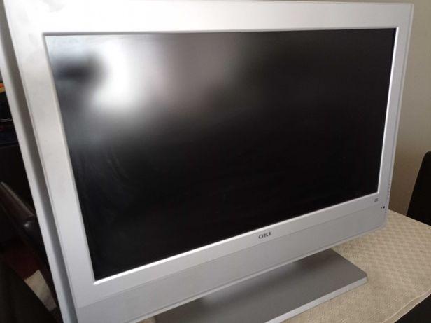 televisão LCD cinzento claro