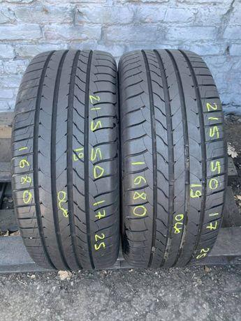Літні шини 215/50 R17 GoodYear EfficientGr/p, 2шт, 8.8мм, 2019рік