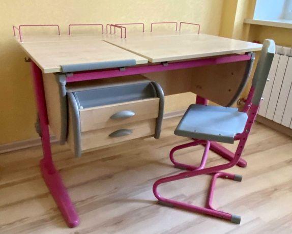 Парта-трансформер Дэми СУТ.17.04-04 в идеальном состоянии + стул