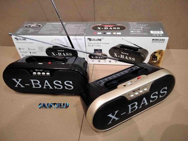 Колонка Bluetooth GOLON RX-BT190S+Радио+USB.SD.AUX+Солнечная Батарея
