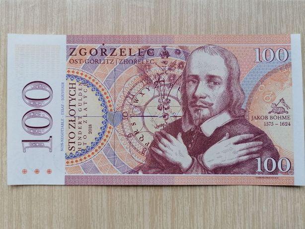 Sprzedam banknot lokalny 100 zł (Zgorzelec) - ostatnia sztuka!